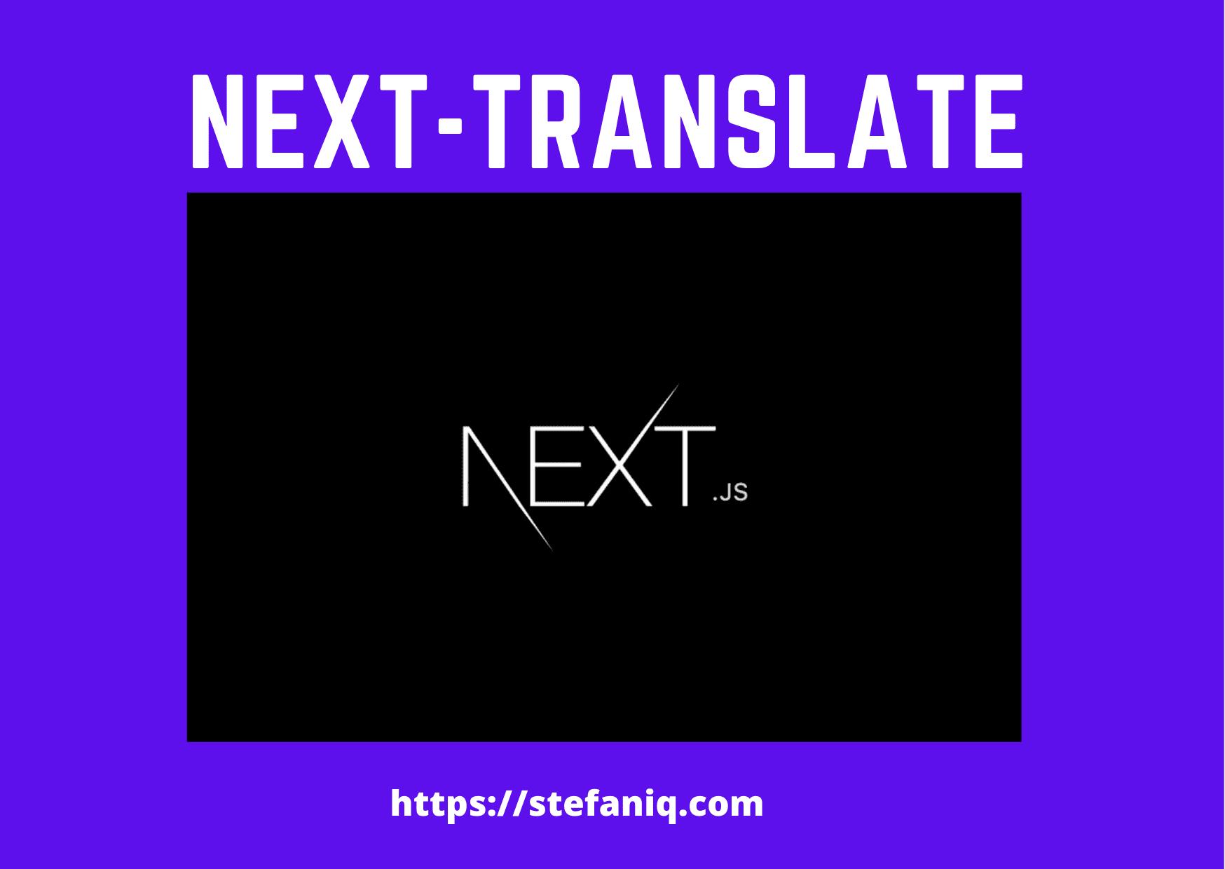 translate using next-translate